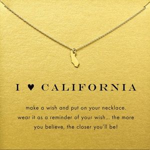 🆕 DOGEARED I LOVE CALIFORNIA GOLD DIPPED NECKLACE